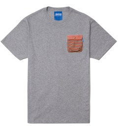 Tantum Heather Grey Patriotic Stripes Chief Pocket T-Shirt Picutre