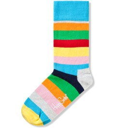 Happy Socks Grey/Pink/Yellow Stripe Sock Picutre