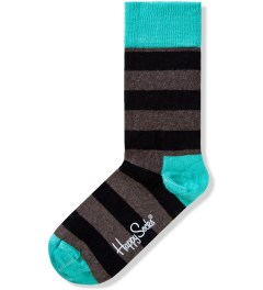 Happy Socks Black/Brown/Green Stripe Sock Picutre