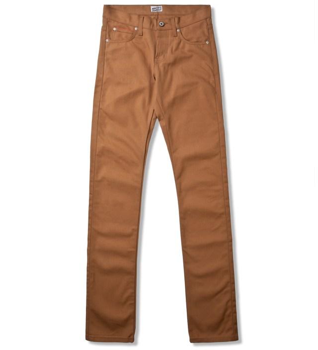 Vintage Brown Khaki Skinny Guy Selvedge Duck