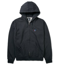 Rockwell by Parra Black Melange Chopped Head Zip Hoodie Picutre