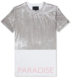 Tourne de Transmission White/Pastel Pink Print Paradise T-Shirt Picutre