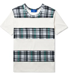 Aloye Plaid/White Akzidenz Check #4 Short Sleeve T-Shirt Picutre