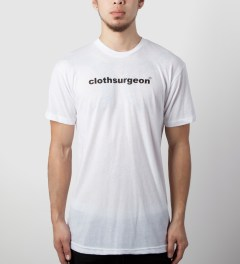 clothsurgeon White Front Logo T-Shirt Model Picutre