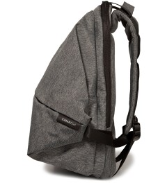 "Côte&Ciel Black Melange 15"" Meuse Folded Backpack Model Picutre"