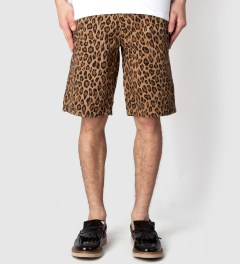FUCT SSDD Brown Leopard Shorts Model Picutre