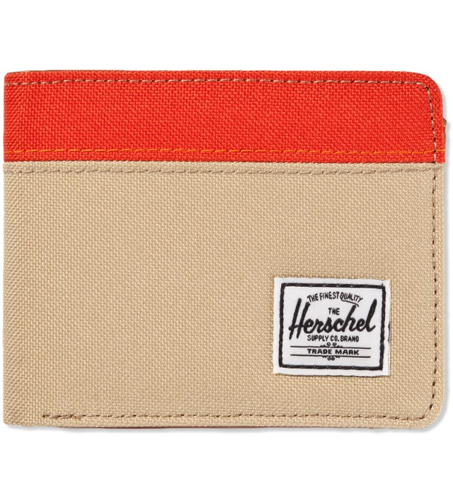 Khaki/Camper Orange Hank Wallet