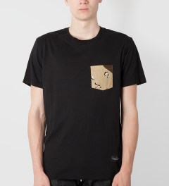 Raised by Wolves Black Desert Camo Pocket T-Shirt Model Picutre