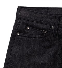 The Unbranded Brand UB104 Skinny Fit Black Selvedge Model Picutre