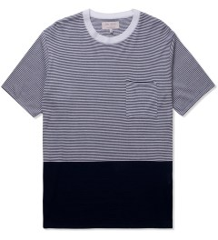 VAINL ARCHIVE Navy Tom's Knit B T-Shirt Picutre