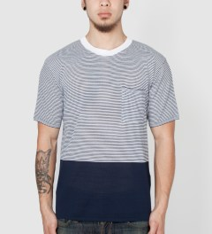 VAINL ARCHIVE Navy Tom's Knit B T-Shirt Model Picutre