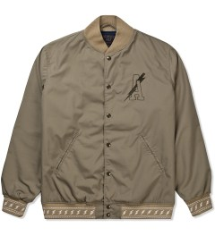 Acapulco Gold Olive Lightning Bolt Baseball Jacket Picutre