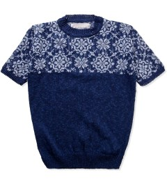Casely Hayford Blue Loki Half Jacquard Knit Picutre