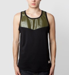 Mister Army Perforated Hide Tank Top  Model Picutre