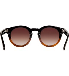 SUNDAY SOMEWHERE Black/Mid Brown Demi with Gradient Brown Lens Soelae Sunglasses Model Picutre
