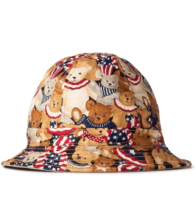Patriotic Bear/3 Color Desert Camo Reversible Liberty Bucket Hat