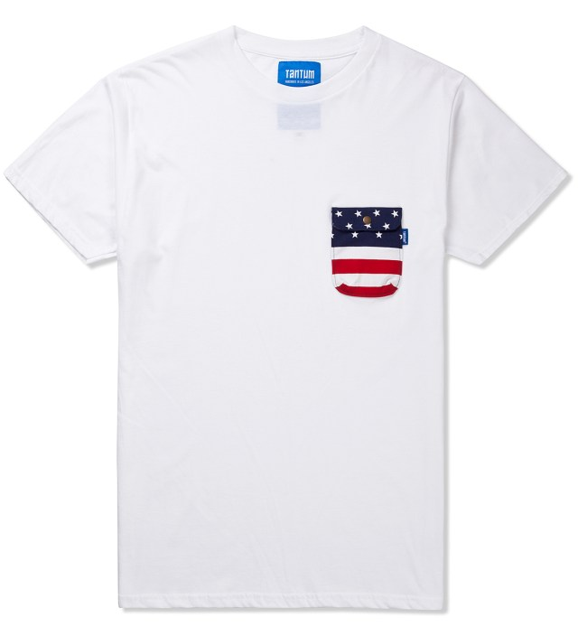 White American Flag Chief Pocket T-Shirt