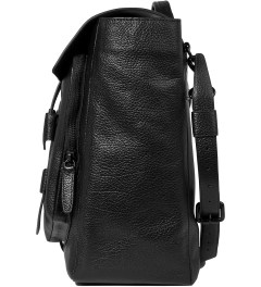 3.1 Phillip Lim Black Journey Flap Messenger Model Picutre