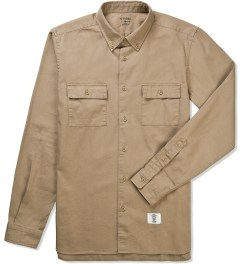 Bedwin & The Heartbreakers Beige BRIAN Button Down OX Shirt Picutre