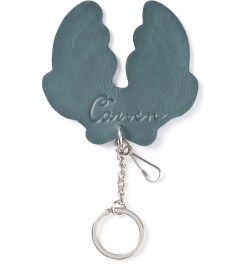 Carven Dark Green Porte CLE Corne Plain Leather Key Holder Model Picutre