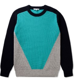 Carven Navy Three Coloured Knit Pullover Picutre