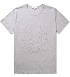 Carven Mottled Grey Cerf Antlers Jersey T-Shirt Picutre