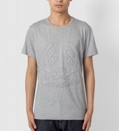 Carven Mottled Grey Cerf Antlers Jersey T-Shirt Model Picutre