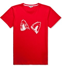 Kitsuné Tee Red Solid Fox Ears T-Shirt Picutre
