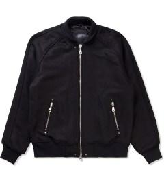 MKI BLACK Black MKI Black Raglan Varsity Jacket Picutre