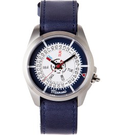 Miansai Navy/RWB M1 Navy Leather W/ Ribbon Watch  Picutre