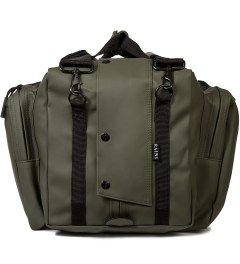 RAINS Green Duffle Bag Model Picutre