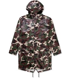 RAINS Camo Long Coat Picutre