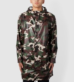 RAINS Camo Long Coat Model Picutre