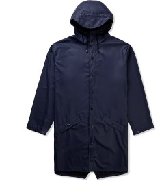 RAINS Navy Long Jacket Picutre