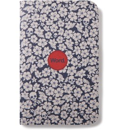 Word. Blue Floral 3 Pack Notebook Model Picutre