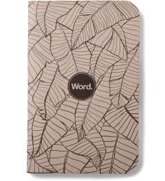 Word. Tan Leaf 3 Pack Notebook Model Picutre