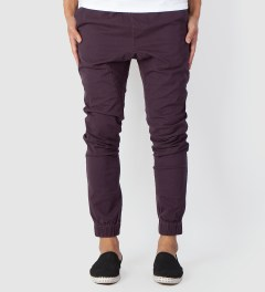 ZANEROBE Black Sureshot Drawstring Chino Pants Model Picutre