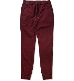 ZANEROBE Burgundy Sureshot Drawstring Chino Pants Picutre