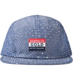 Acapulco Gold Diamond Polka Dot Quilted Chambray Camp Cap Picutre