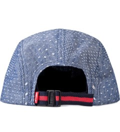 Acapulco Gold Diamond Polka Dot Quilted Chambray Camp Cap Model Picutre