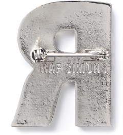 Raf Simons Blue R Brooch Model Picutre