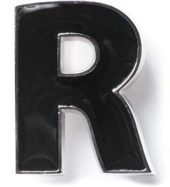 Raf Simons Black R Brooch Picutre