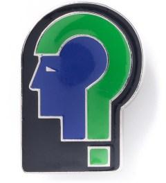 Raf Simons Blue/Black Helmet Brooch Picutre