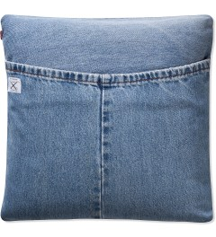 SECOND LAB Indigo Denim Cushion Model Picutre