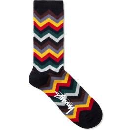 Stussy Black Zig Zag Pattern Sock Picutre