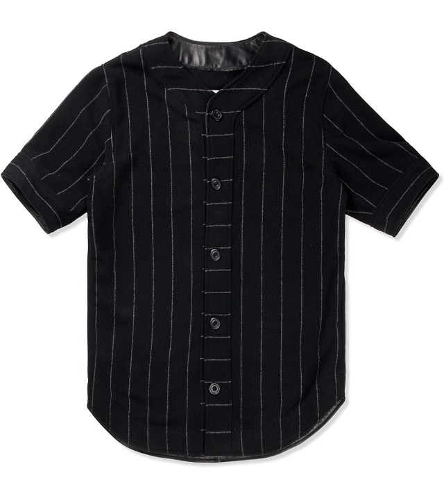 Black M.F.Y Wool Baseball Jersey
