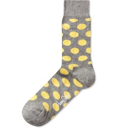 Happy Socks Grey/Yellow Big Dot Sock Picutre