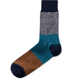 Happy Socks Navy Wool Blend Sock Picutre