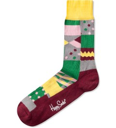 Happy Socks Burgundy/Multi Multi Square Picutre