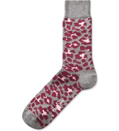 Happy Socks Grey/Pink Animal Sock Picutre